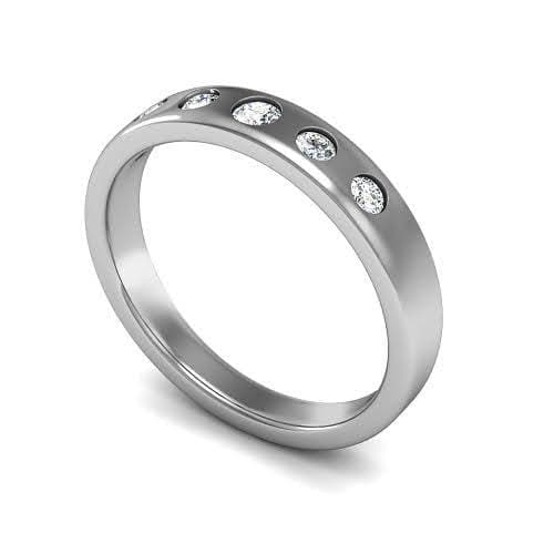 0.65 CT Round Cut Diamonds - Wedding Band