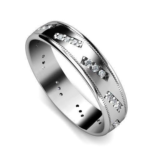 0.45 CT Round Cut Diamonds - Mens Wedding Band