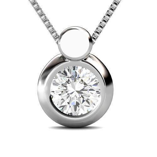 0.25 CT Round Cut Diamonds - Solitaire Pendant