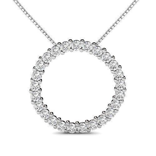 1.25 CT Round Cut Diamonds - Diamond Pendant
