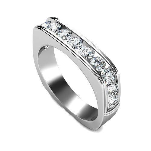 0.90 CT Round Cut Diamonds - Wedding Band