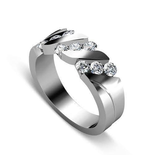 0.55 CT Round Cut Diamonds - Wedding Band