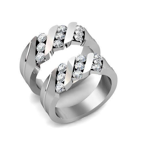 1.40 CT Round Cut Diamonds - Wedding Set