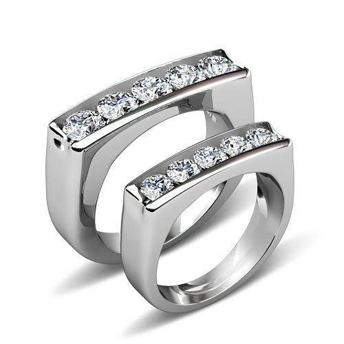 1.50 CT Round Cut Diamonds - Wedding Set