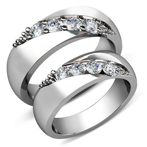 0.45 CT Round Cut Diamonds - Wedding Set
