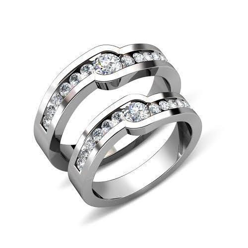 0.75 CT Round Cut Diamonds - Wedding Set