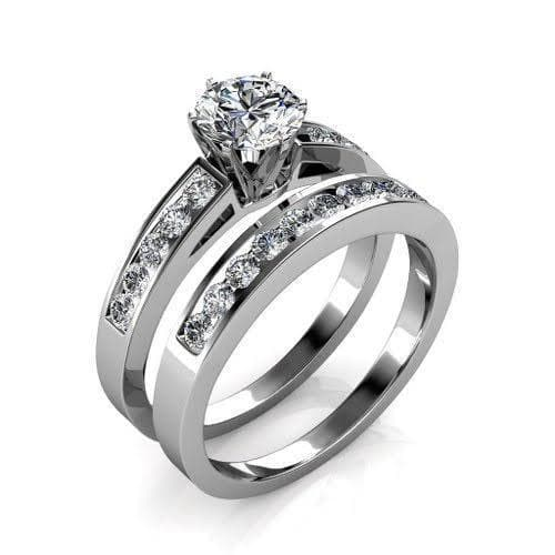 1.80-2.95 CT Round & Princess Cut Diamonds - Bridal Set