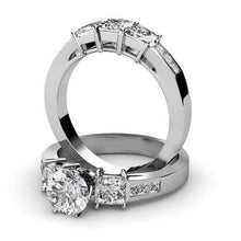 Load image into Gallery viewer, Bridal Sets 2.30-3.45CT Princess Cut Diamonds