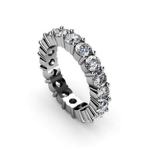 4.10 CT Round Cut Diamonds - Eternity Ring