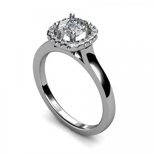 0.60-1.75 CT Round & Cushion Cut Diamonds - Halo Ring