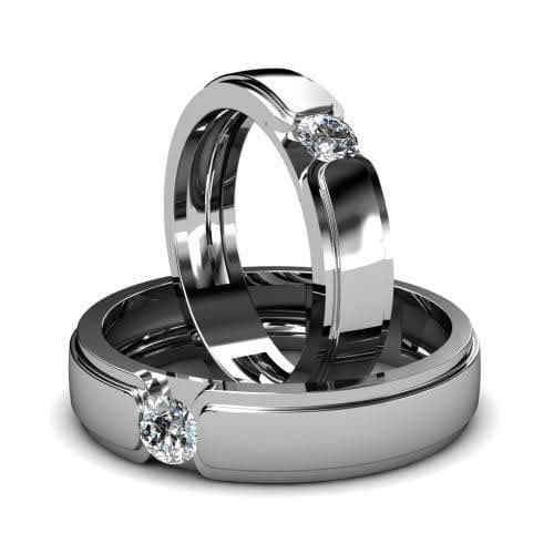 0.60 CT Round Cut Diamonds - Wedding Set