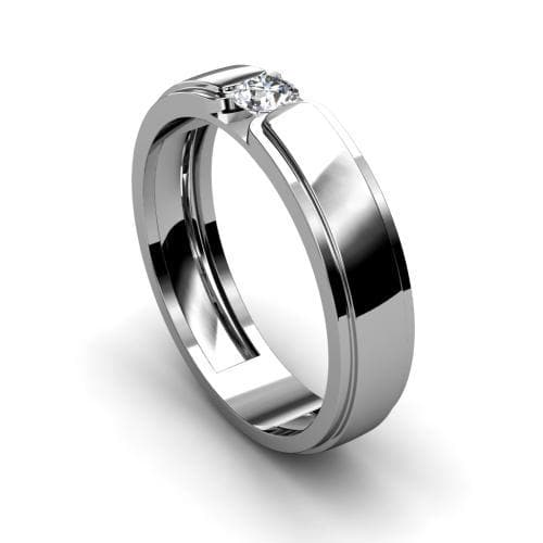 0.35 CT Round Cut Diamonds - Mens Ring