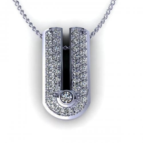 0.23 CT Round Cut Diamonds - Diamond Pendant
