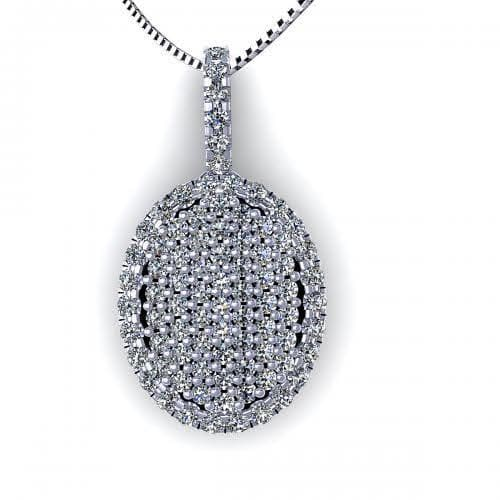0.45 CT Round Cut Diamonds - Diamond Pendant