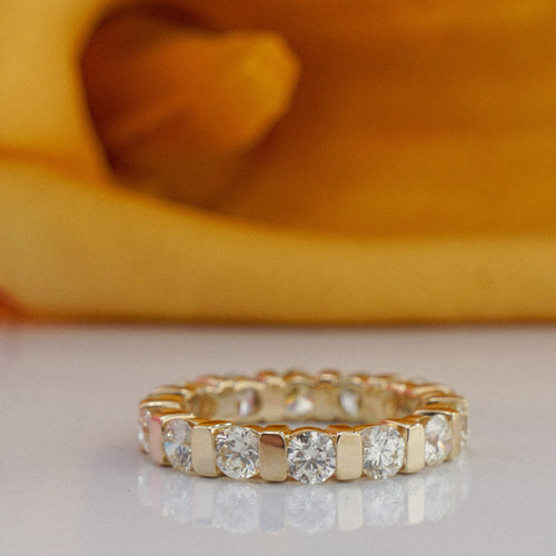 1.50 CT Round Cut Diamonds - Eternity Ring