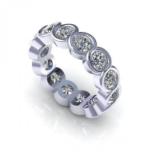 1.50-5.00 CT Round Cut Diamonds - Eternity Ring