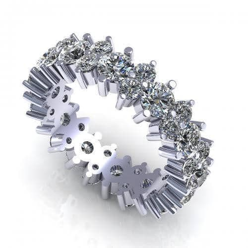2.00-6.00 CT Round Cut Diamonds - Eternity Ring
