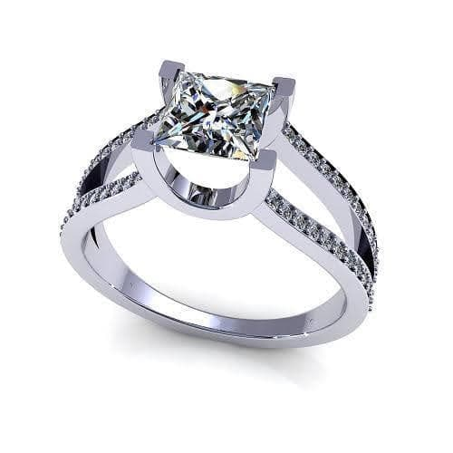 0.85-2.00 CT Round & Princess Cut Diamonds - Engagement Ring