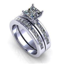 Load image into Gallery viewer, 2.10-3.25 CT Princess Cut Diamonds - Bridal Set