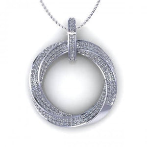 0.90 CT Round Cut Diamonds - Diamond Pendant