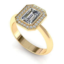 Load image into Gallery viewer, 0.70-1.85 CT Round & Emerald Cut Diamonds - Engagement Ring