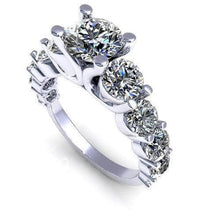 Load image into Gallery viewer, 2.85-4.00 CT Round Cut Diamonds - Engagement Ring