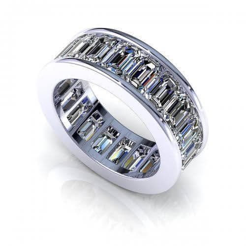 3.50 CT Emerald Cut Diamonds - Eternity Ring