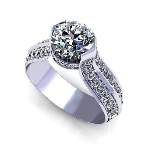 1.00-2.15 CT Round Cut Diamonds - Engagement Ring