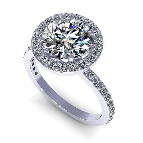 0.75-1.90 CT Round Cut Diamonds - Engagement Ring