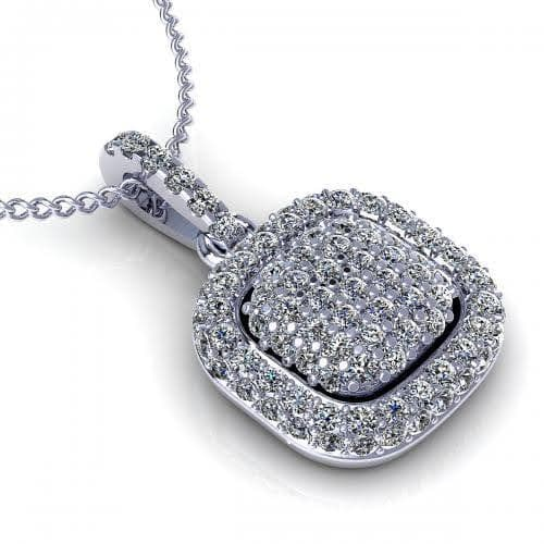 0.35 CT Round Cut Diamonds - Diamond Pendant