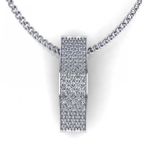 0.25 CT Round Cut Diamonds - Diamond Pendant