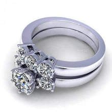 Load image into Gallery viewer, Bridal Sets 1.35-2.50CT Round Cut Diamonds