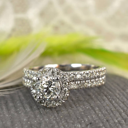 Bridal Sets 1.05-2.20CT Round Cut Diamonds