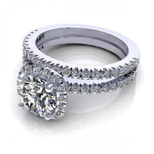 Load image into Gallery viewer, Bridal Sets 1.00-2.15CT Round Cut Diamonds