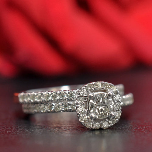 Bridal Sets 1.00-2.15CT Round Cut Diamonds