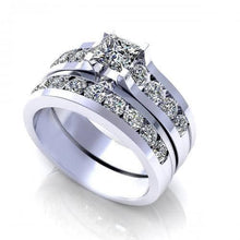 Load image into Gallery viewer, 2.15-3.30 CT Round & Princess Cut Diamonds - Bridal Set