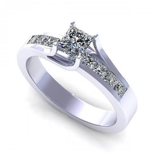0.80-1.95 CT Princess Cut Diamonds - Engagement Ring