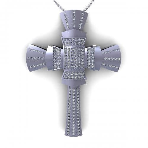 0.75 CT Round Cut Diamonds - Religious Pendant