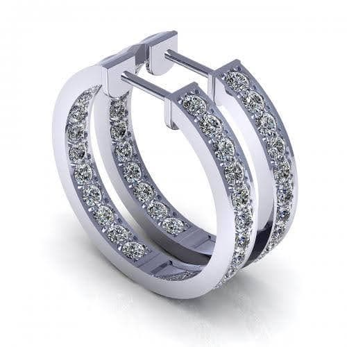 0.80 CT Round Cut Diamonds - Diamond Earrings