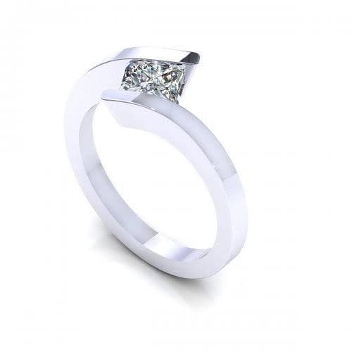 0.35-1.50 CT Princess Cut Diamonds - Solitaire Ring