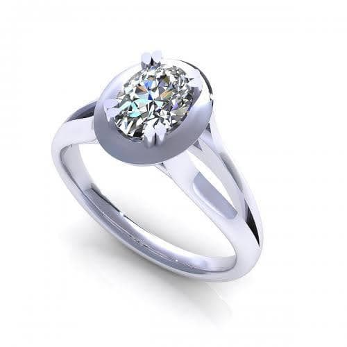0.35-1.50 CT Oval Cut Diamonds - Solitaire Ring