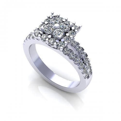 0.85 CT Round Cut Diamonds - Engagement Ring