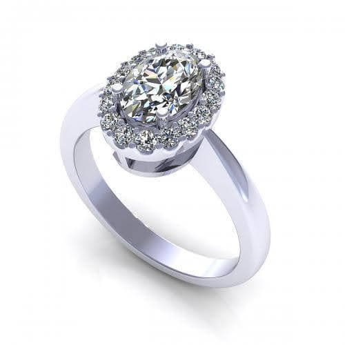 0.65-1.80 CT Round & Oval Cut Diamonds - Engagement Ring