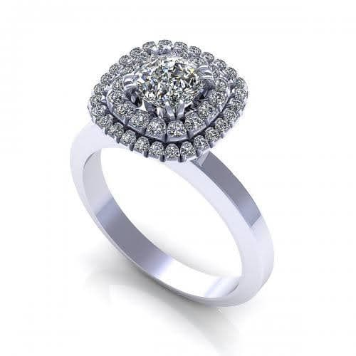 0.69-1.84 CT Round & Cushion Cut Diamonds - Engagement Ring