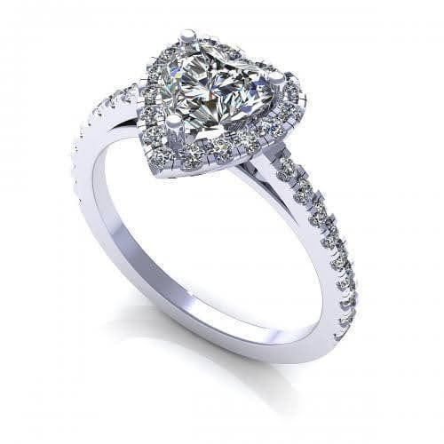 0.80-1.95 CT Round & Heart Cut Diamonds - Engagement Ring