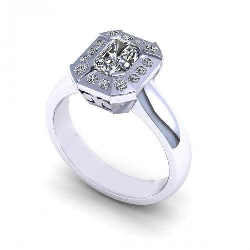0.51-1.66 CT Round & Radiant Cut Diamonds - Engagement Ring