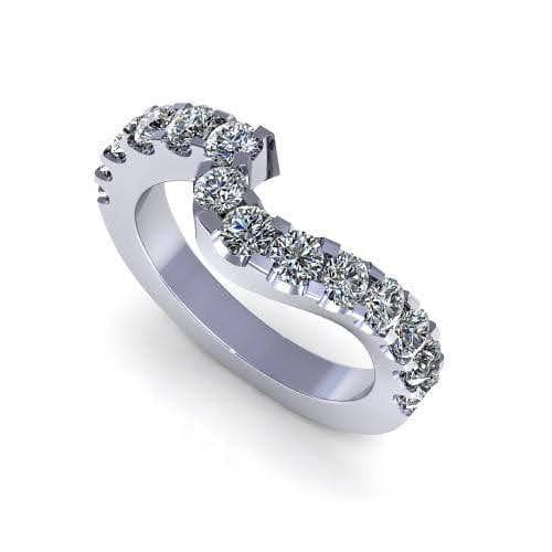1.30 CT Round Cut Diamonds - Wedding Band