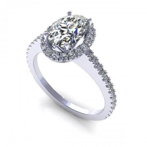 0.72-1.87 CT Round & Oval Cut Diamonds - Engagement Ring