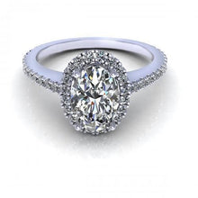 Load image into Gallery viewer, 0.72-1.87 CT Round & Oval Cut Diamonds - Engagement Ring