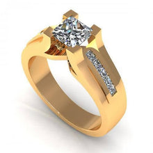 Load image into Gallery viewer, 0.70-1.85 CT Princess Cut Diamonds - Engagement Ring